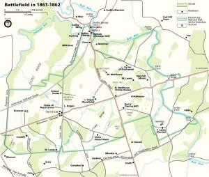 NPS Map of the Battlefield in 1861-1862