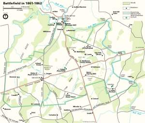 NPS Map of the Battlefield in 1861-1862