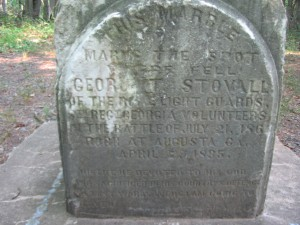 George T. Stovall Marker Detail