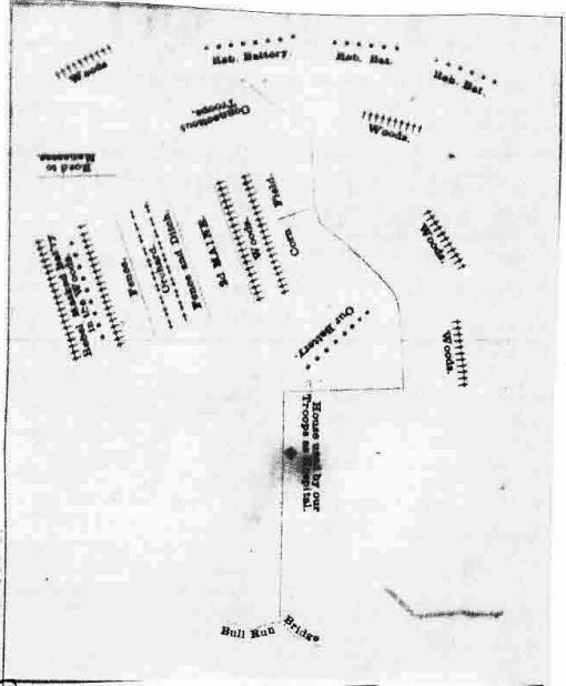1861 8-3 Bangor Daily Whig and Courier 2d Maine Bull Run with map