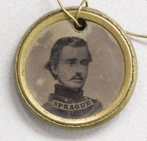 Rhode Island Governor William Sprague, who accompanied Burnside's Brigade at First Bull Run.
