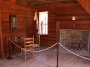 Interior of reconstructed farm house