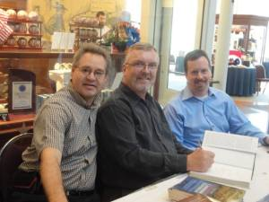 L-R, Wayne Motts, Steven Stanley, and James Hessler